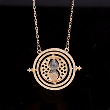 цена на Top Quality Time Turner Hourglass Vintage Pendant Hermione Granger Necklace Gold Plated Choker Pendant Necklace