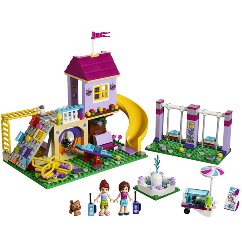 01050 Heartlake City Playground Building Blocks Bricks Education Sets Toys for Girls Gift Compatible with Legoeing Friends 41325 aiboully 10166 2017 new 489pcs girls friends heartlake city school building block sets assemble bricks toys compatible 41005
