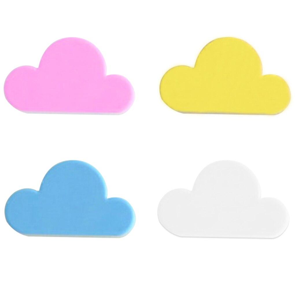 Image 5 - 2019 New Key Holder Crochet Pink Yellow Blue Cloud Shape Magnets Wall Key Holder Keys White Securely Wall Hook/Key-in Storage Holders & Racks from Home & Garden