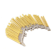 100Pcs P160-H2 Nickel Plated Springs Test Probe Brass Tube Outer Diameter 1.36mm Total Length 24.5mm Electronic Tool