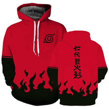Anime Hokage Ninjia hoodie Sweater Naruto Uzumak Long Sleeve Pullovers Hooded Jacket Sweatshirt cosplay costume