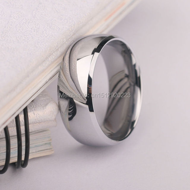 8mm Mirron Polished Tungsten Ring for Cool Boys No Fade Scratch Proof, Free Shipping, Customized