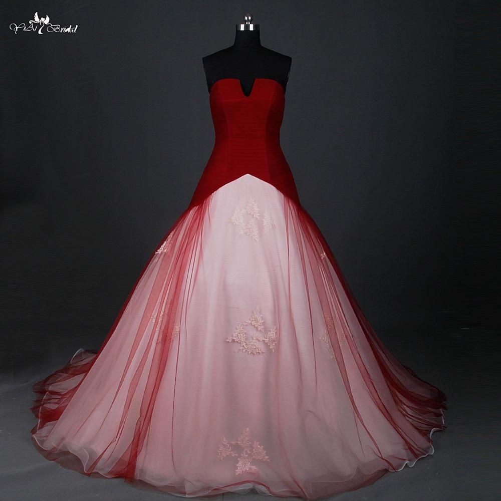 Rsw884 Merah Pernikahan Gaun Ball Gown Terbuka Kecil Leher V Dengan Harga Murah Merah Dan Putih Pernikahan Gaun Robe Mariage Robe Mariage Wedding Dress Ball Gownred And White Wedding Aliexpress