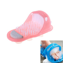 Plastic Bath Shower Feet Massage Brush Slippers Shoes Foot Scrubber Brushes SPA Skin Remove Dead Care Tool