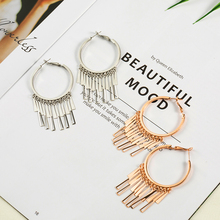 Купить с кэшбэком 2019 new boho alloy dangle earrings for women Bohemian ethnic gloden silver color tassel earring Fashion patry jewelry gifts