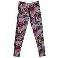 Ventas al por mayor Nueva Moda de Ropa de Las Mujeres Calientes de Impresión Digital Pantalones Hot New The Riddler Polainas polainas Flacas de nuevo Elefante 2016