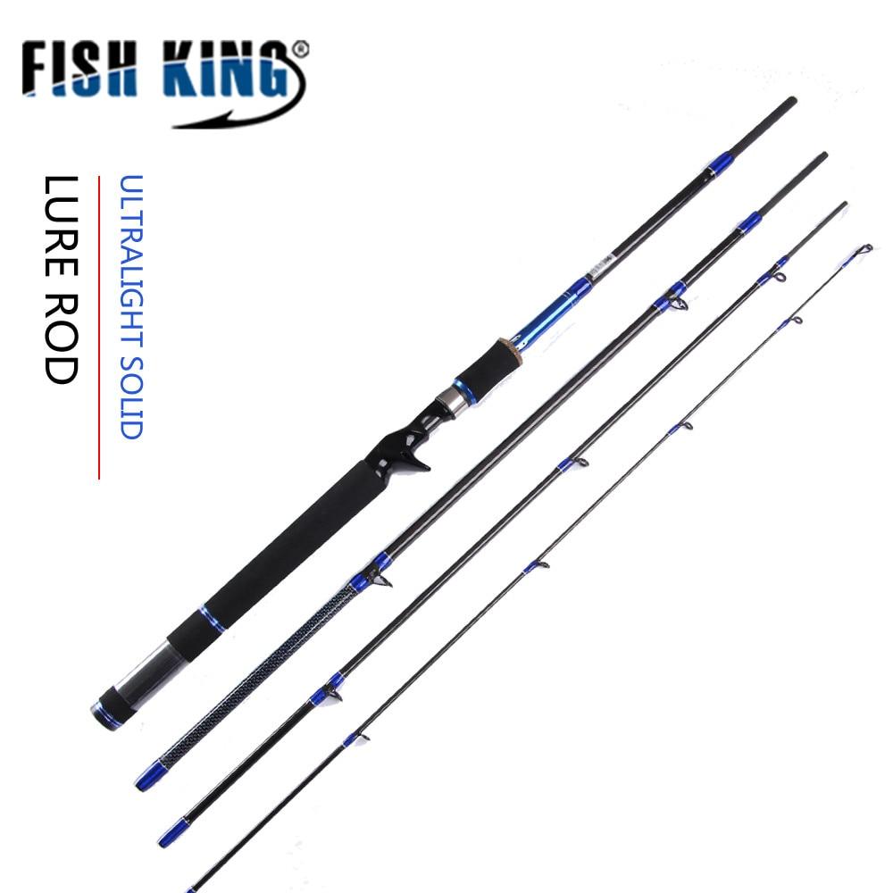 FISH KING 99% carbone 2.1 m 2.4 m 2.7 m 4 Sections C.W 10-30G 15-40G canne à leurre filature coulée canne à leurre pour matériel de pêche