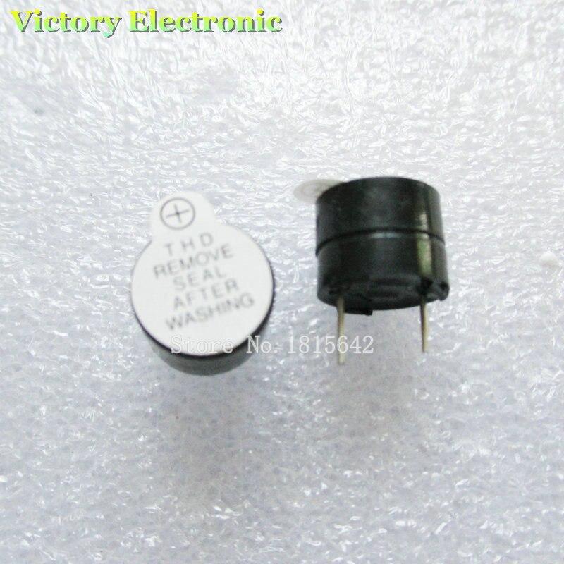 10PCS/Lot 12V Mini Magnetic Active Buzzer Alarm Ringer Black INGT 9.6mm New Wholesale Electronic