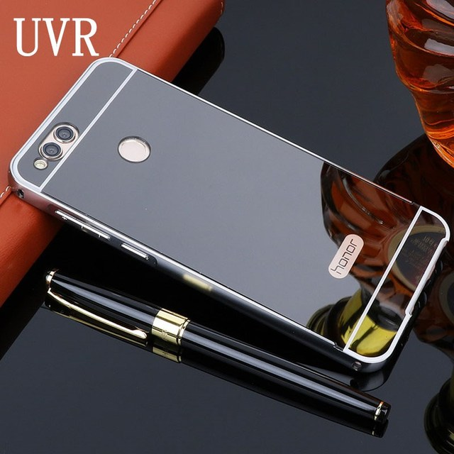 quality design f13db 3ef4e US $3.14 30% OFF|UVR For Huawei Honor 7X Case 5.93 Mirror Aluminum Metal  Bumper Acrylic PC Back Phone Cases For Huawei Honor7X Cover Fundas Coque-in  ...