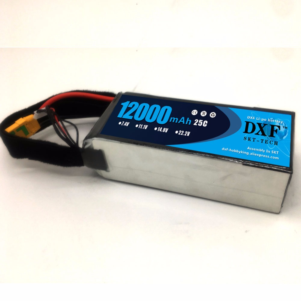 DXF <font><b>12000mAh</b></font> 22.2V 6S 25C RC <font><b>Lipo</b></font> Battery For Helicopter S1000 Drone FPV UAV Car Boat Agriculture image