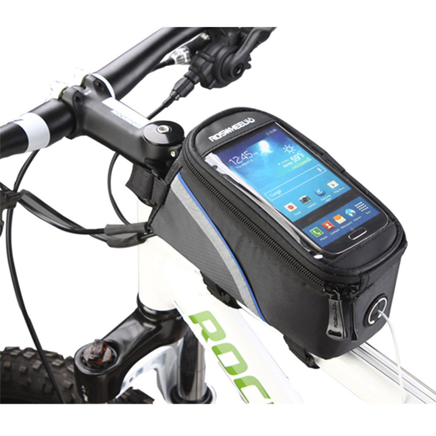 ROSWHEEL Bike Bags Pannier Waterproof Front Tube Cycling Frame Bag for Phone 4.8 5.7 Inch MTB Touch Screen Bicycle Bag bicycle touch screen tube bag bike cycling touch screen mobile phone bag pannier bag