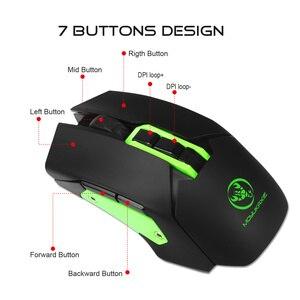 Image 2 - HXSJ беспроводная мышь 2,4G игровая мышь 4800 Регулируемая DPI перезаряжаемая USB мышь плеер красочная подсветка для ПК ноутбуков игр