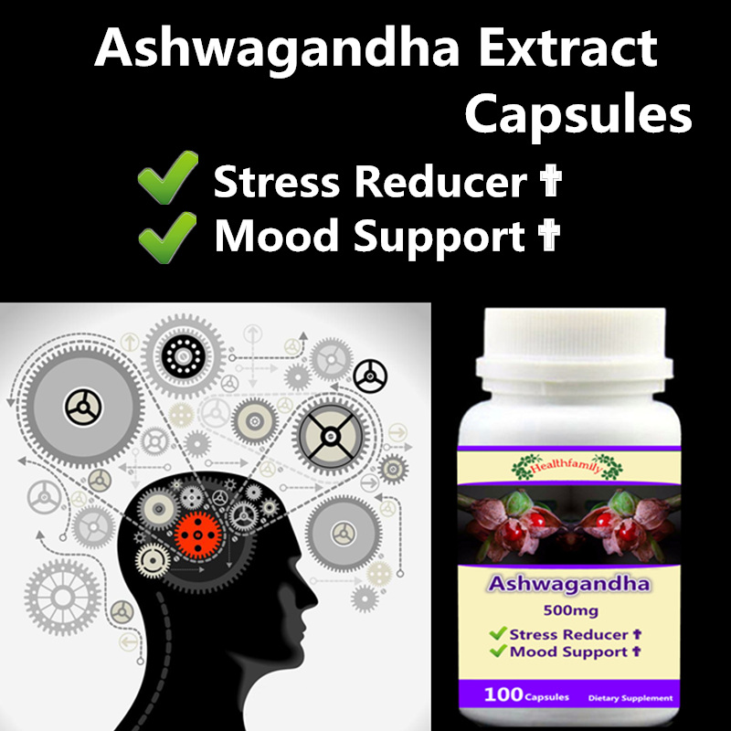 2 bottle 200pcs, Pure Ashwagandha Root Extract 8% Withanolides,Withania somnifera,Reduce mental stress,adapt Stress,Keep relax все цены