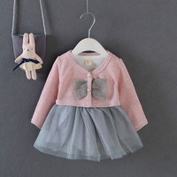 2017 Spring And Autumn Baby Dress Dress Girl Dress Princess Skirt 2pcs Poncho Skirt Children S