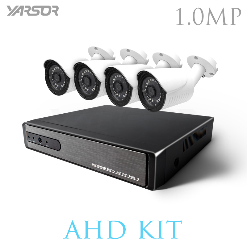 FL-AKT1004KA 4CH CCTV System 720P HDMI AHD CCTV DVR 4PCS 1.0MP IR Outdoor Security Camera 1280TVL Surveillance Kit DVR Kits