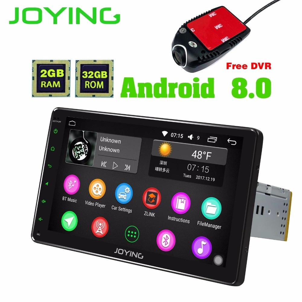JOYING 9 INCH Android 8 2 GB Car Radio HD 1din Car Multimedia Player Autoradio GPS In dash Stereo Head Unit video Free front DVR gps магнитолу 1din