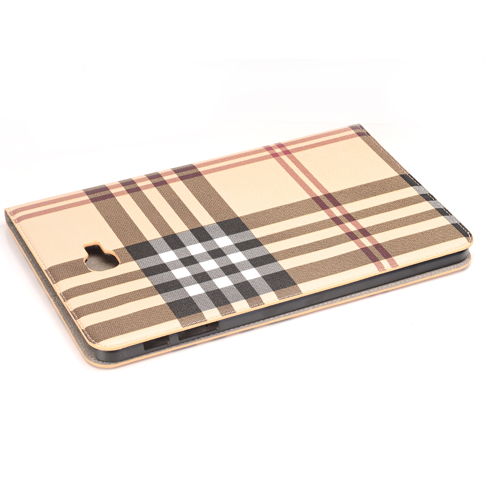 Fashion Stripe Book Cover Card Slot Folio Stand PU Leather Case For Samsung Galaxy Tab A 10.1 T585 T580 SM-T580 T580N Tablet