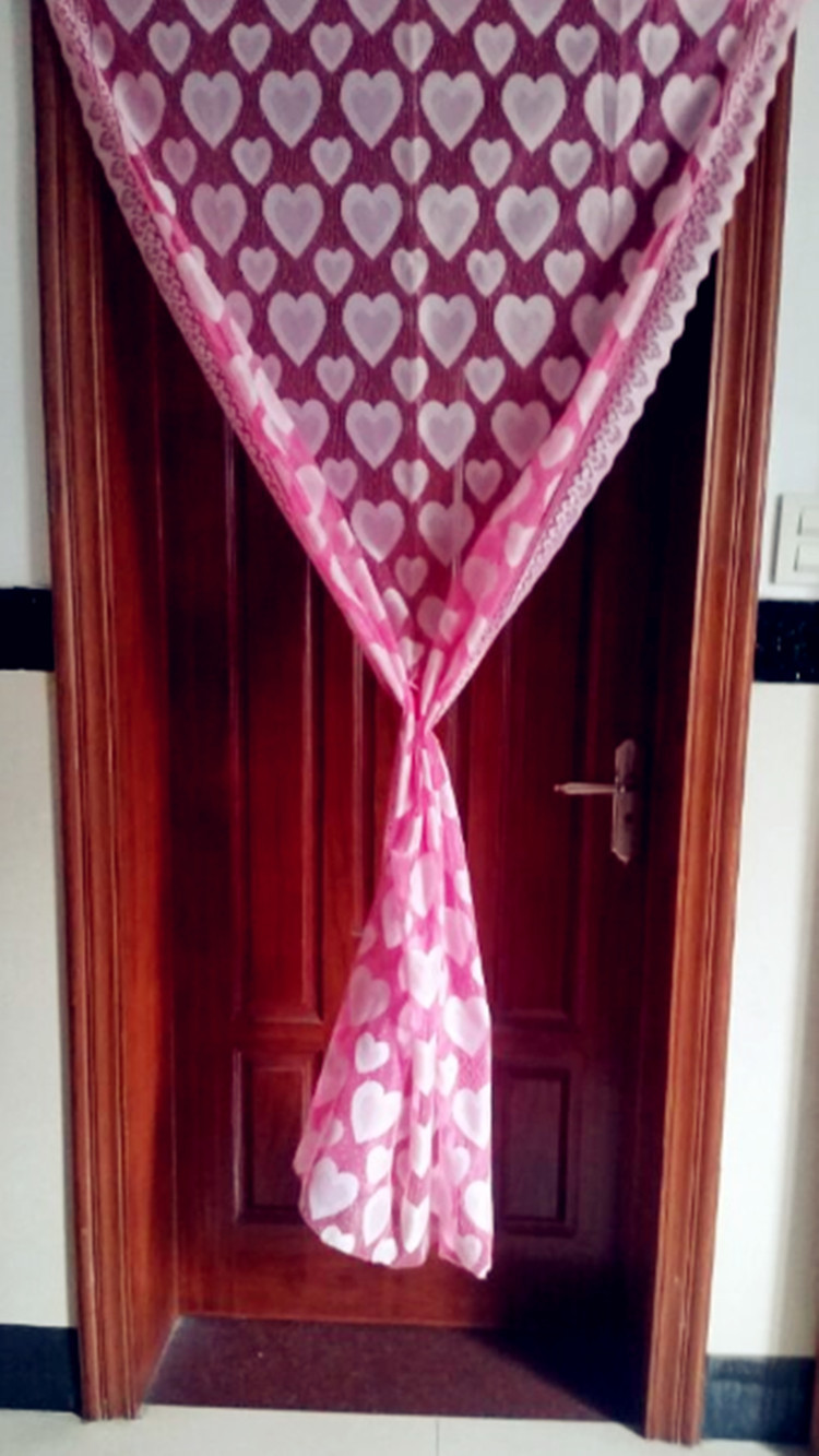 2ps Hot Sale 100cm X 100cm Door Screen Love Door Cloth Length Can