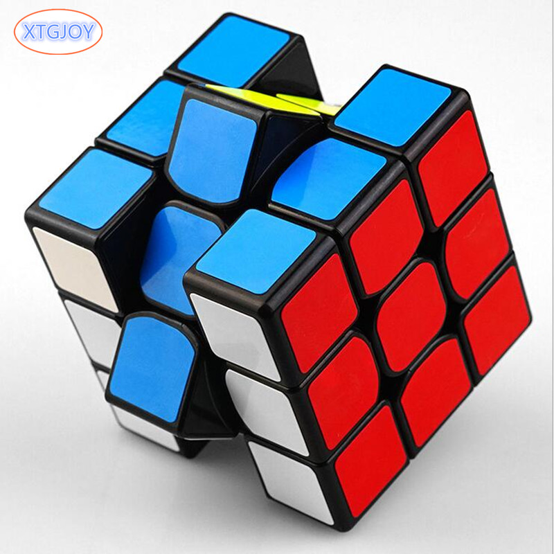 1Pcs High Quality Classic Toys 3x3x3 ABS Sticker Block Speed Magic Cube Colorful Learning Educational Puzzle