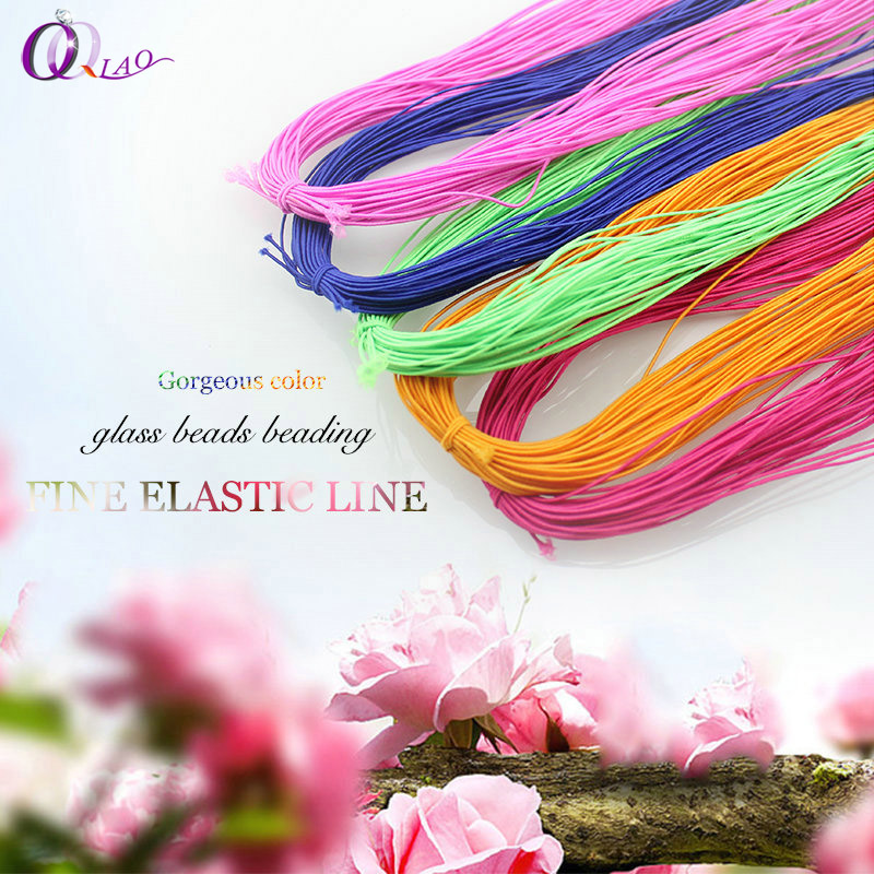 1mm Elastic Cord Beading Wire Pendants String Thread 23.5m A Tie/piece Long Thread For Necklace Bracelet Accessories DIY