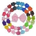 """20 unids 4.5 """"baby girl punto grande/floral ribbon pinwheel hair bows con el clip para niñas niños pinzas para el cabello accesorios para el cabello corea xc1880"""