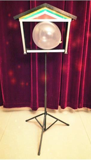 Colombes jumelles en ballon-télécommande, tours de magie, magie de colombe, accessoires, mentalisme, scène, gros plan, illusions, magie de fête