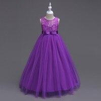 New Children's Dress Girls Princess Dress Big Child Lace Dress High grade 3 12 Years