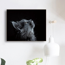 Cats Looking Up Canvas Painting Calligraphy Poster and Prints Living Room House Wall Decor Art Painting Home Decoration Picture black and white art canvas painting calligraphy poster and prints living room house wall decor art home decoration picture