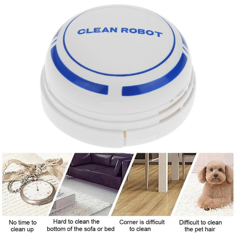 Mini Intelligent Vacuum Cleaner Desktop Dust Collector Electric Wireless Automatic Round Smart Sweeping Robot Vacuum Cleaner adoolla mini smart automatic electric vacuum cleaner usb powered sweeping robot quiet robot vacuum cleaner for home