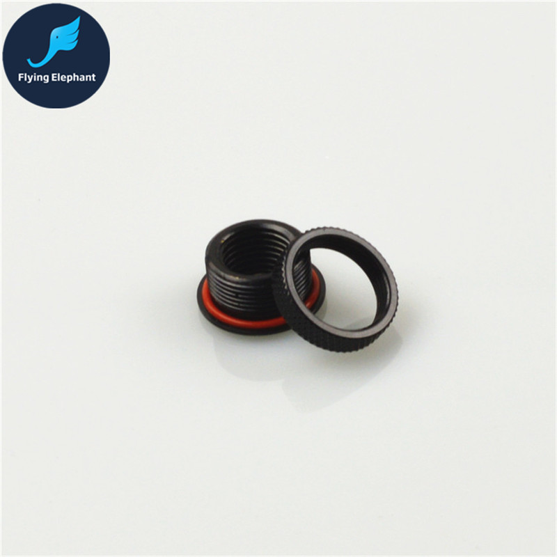 G1/4 Threading Quick Twist Water Cooling Tube Fitting Connector Total length 11 mm Wear Plate Hoop aperture 18mm