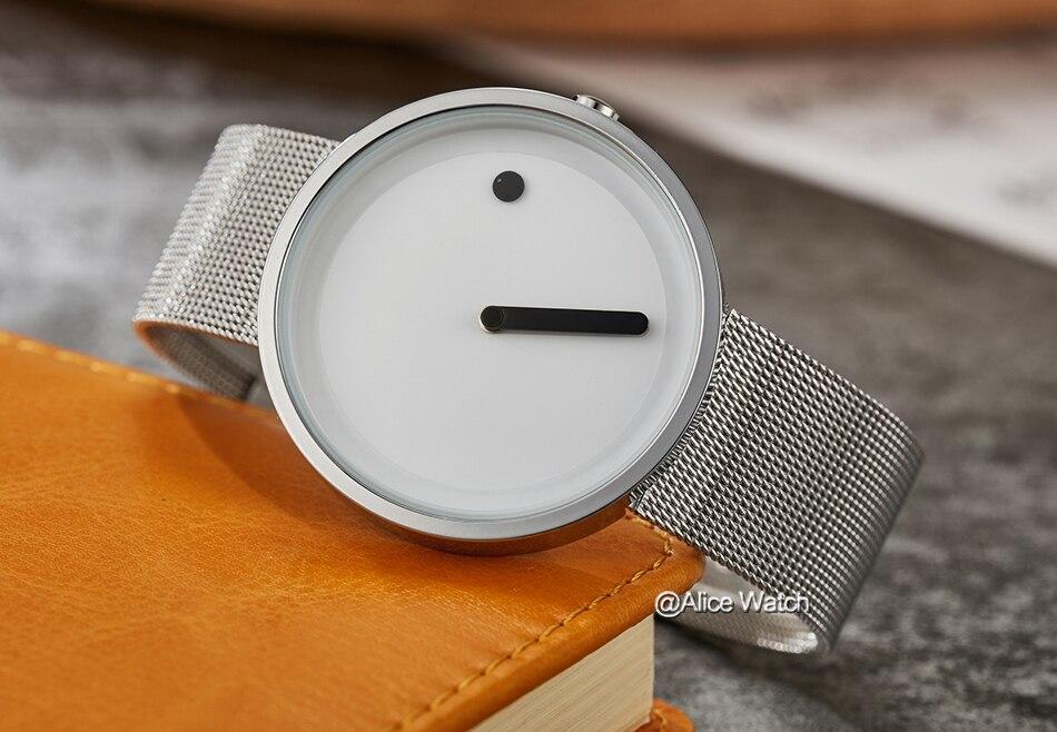New men's quartz-watch Stainless Steel Mesh Band Bracelet Slim men watches Creative deisgn sports Wristwatches Relogio Masculino