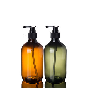 Image 2 - 2ps 300ml 500ml Plastic Lotion Bottles with  Lotion Pump for Shampoo, Personal care,Lotion Refillable Boston Bottles Home Reuse