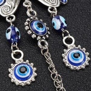 JX-LCLYL 20 см Lucky Butterfly турецкое голубое стекло злые амулет в виде глаза настенный Декор для дома