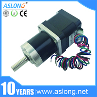 ASLONG Hybrid low noise high torque PG36 42BY dc planetary gear motor, micro stepper motor