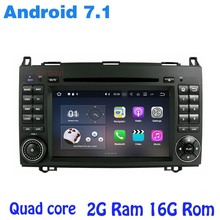 Android 7.1 Quad core Car dvd gps for Mercedes Benz Sprinter Viano Vito A B Class W169  with 2G Ram radio wifi 4G usb bluetooth