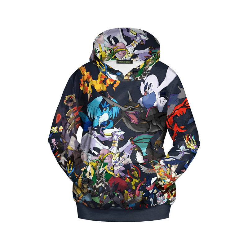 164ad09b5 New Fashion Women 3D Printer Digimon Hoodies Sweatshirts Hooded Warm Fall  Winter Female Pullover Unisex Tracksuits Outwear