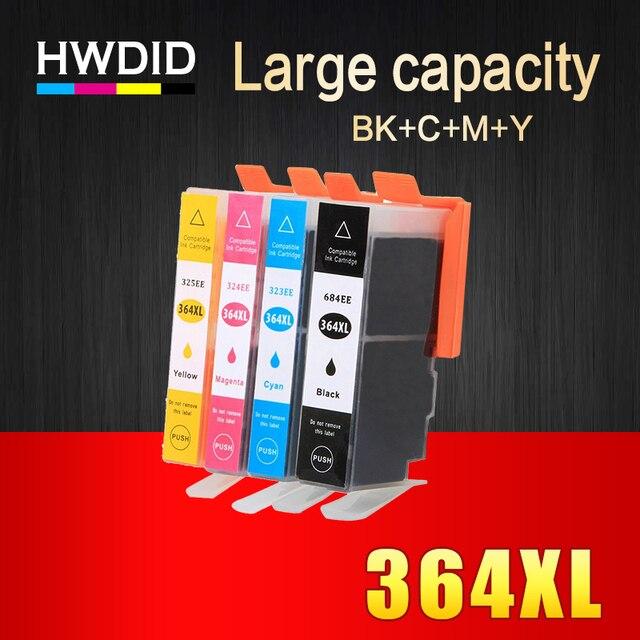 HWDID 364xl תואם דיו מחסנית החלפה עבור HP 364 XL עבור Deskjet 3070A 7510 photosmart 5510 5515 5520 7520 B109a 6510