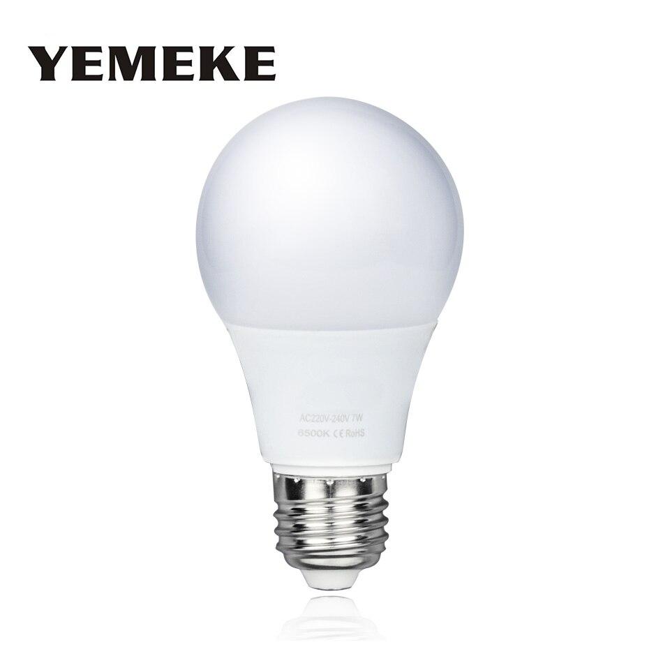 Бесплатная доставка E27 Светодиодная лампа Светодиодная свеча лампы энергосберегающие лампы света лампада для украшения дома 5 Вт 7 вт 9 Вт 12 …