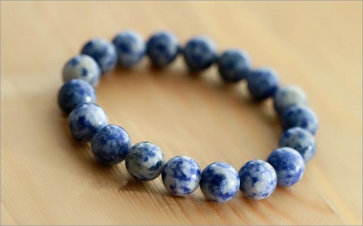 Fashion Natural Blue Stone Men Bracelet 3
