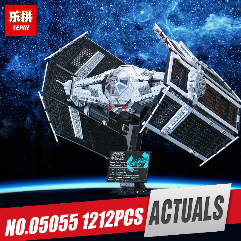 Lepin 05055 Star Series Wars The Rogue model One USC Vader set TIE Toy Advanced Fighter Set Building Blocks Bricks Legoing 10175 new 1685pcs lepin 05036 1685pcs star series tie building fighter educational blocks bricks toys compatible with 75095 wars