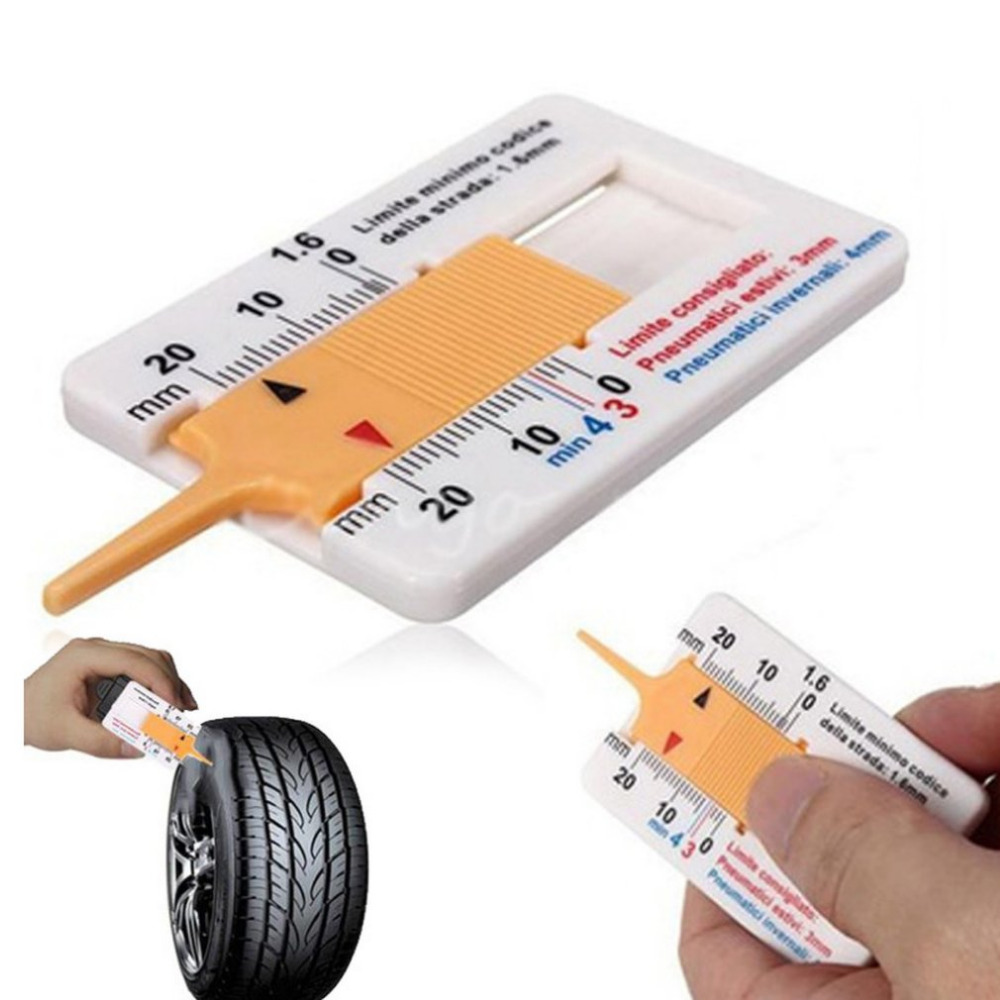 Measure Tool Tyre Tread Depth Gauge Tread Depth Meter for Car Trailer Motorcycle Caravan Trailer Wheel Car Accessories