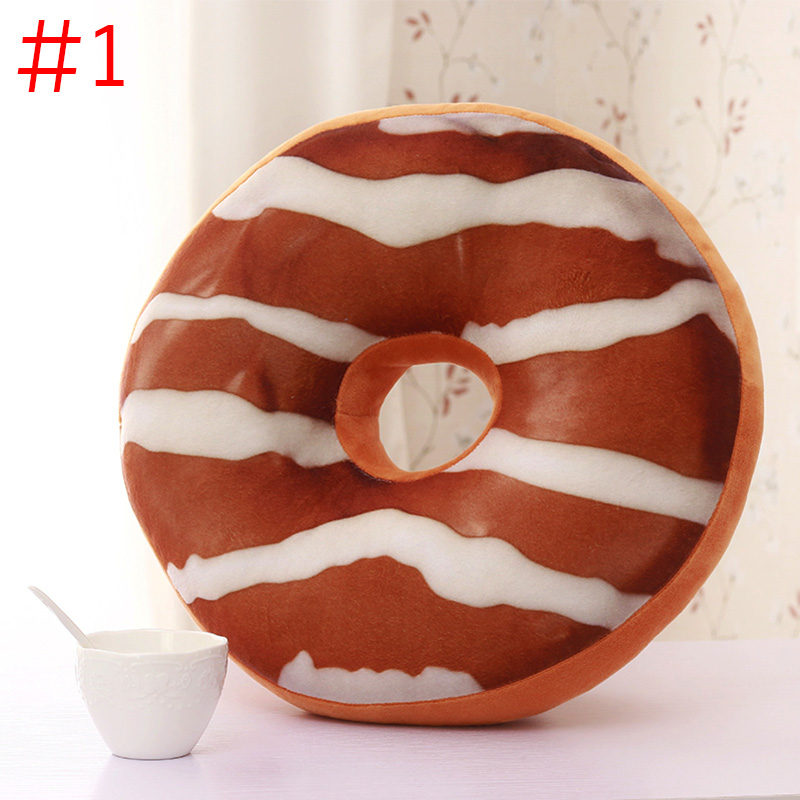 Chocolates Donut Shaped Pillow Cushions