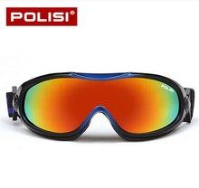 POLISI Niños niños de Invierno Gafas de Esquí Snowboard Skate Gafas Anti-Vaho UV400 Esqui Ski Nieve Motos de Nieve Gafas de Protección