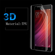 GXE TPU Soft Film 3D Full Cover Screen Protector Film For Xiaomi Mi 6 5c 5x 5s Plus Max 2 Mix Note 2 3 Redmi Note 4 4(Not Glass)(China)