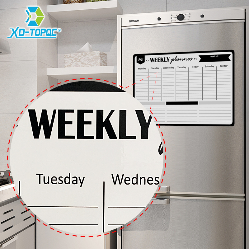 Magnetic Whiteboard A3 Weekly Daily Planner Message White Board Fridge Magnet Office Kitchen Refrigerator Drawing Board For Note