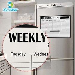 Quadro branco magnético a3 semanal planejador diário mensagem placa branca geladeira ímã escritório cozinha geladeira placa de desenho para nota