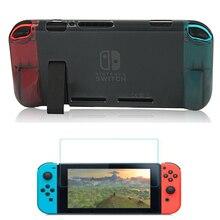 Удобный мягкий чехол из ТПУ для консоли Nintendo Switch NS и эргономичная Защитная пленка для экрана из искусственной кожи