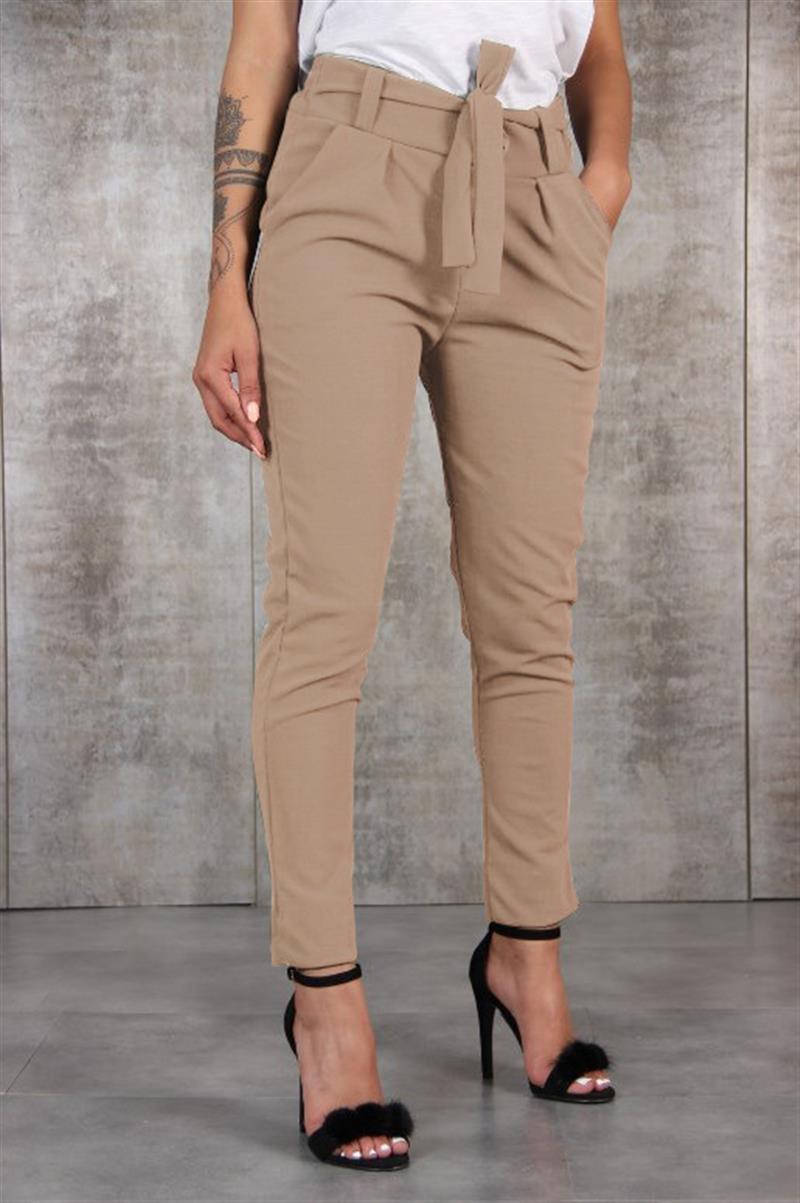 f2735d0febd81 2018 mode femmes Long pantalon Bandage taille élastique décontracté dames  crayon pantalon femme nœud papillon pantalon femmes pantalon WS8307C dans  ...