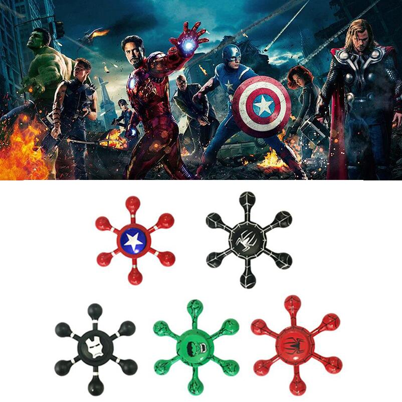 The Avengers Drops Captain America Ironman Spiderman Hulk Batman Mantel Fidget Spinner Hand Spinner For Autism ADHD Stress Toys