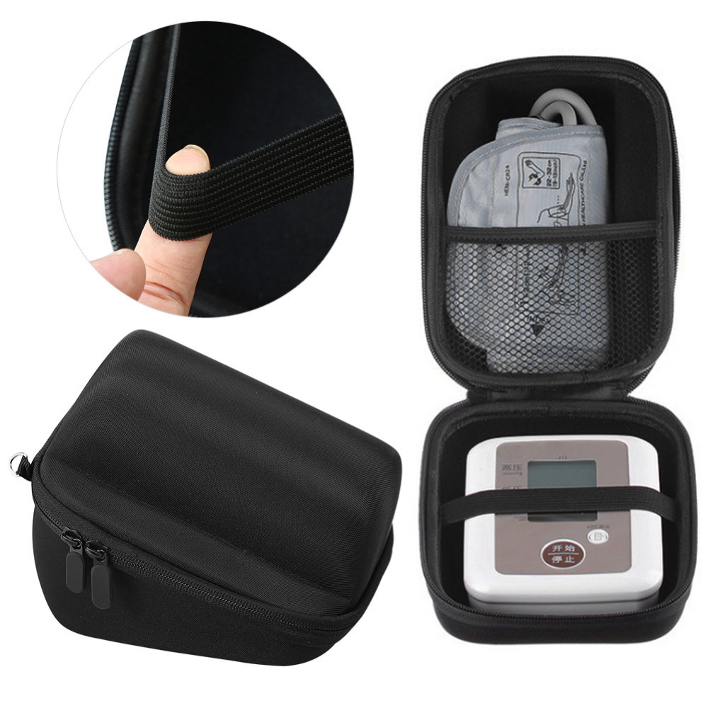 Waterproof Makeup Storage Box Blood Pressure Monitor Carry Bag Sphygmomanometer Storage Case Carry Cover Travel Pouch Case